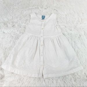 Gap baby girl sleeveless eyelet white dress